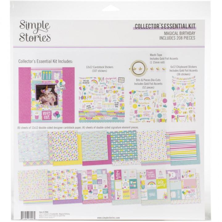 Набір паперу 30*30см Simple Stories Collector's Essential Magical Birthday