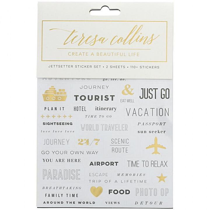 Наліпки Teresa Collins Jetsetter Stickers Elements