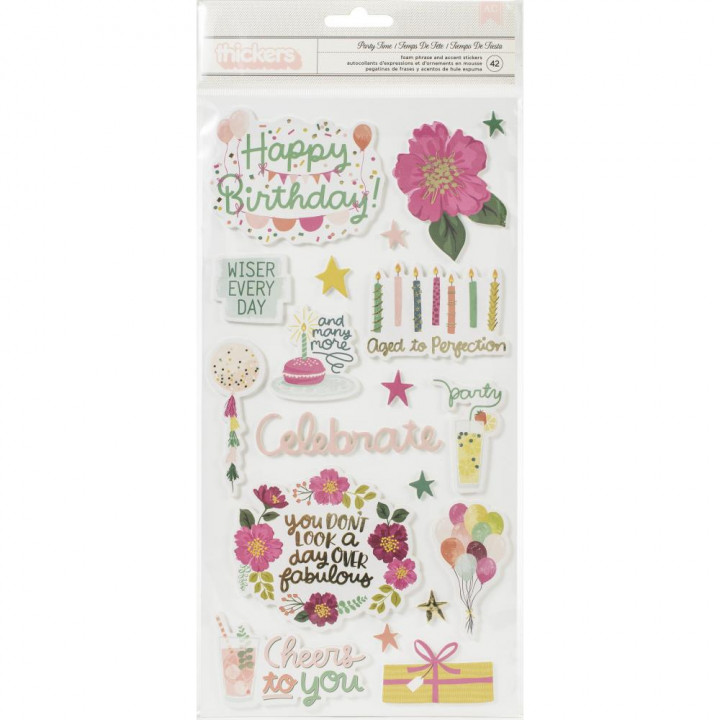 Наліпки Pink Paislee And Many More Thickers Stickers Elements 14*28см