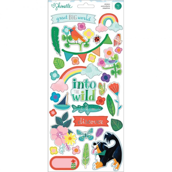 Наліпки American Crafts Shimelle Never Grow Up Cardstock Stickers Elements 79/Pkg