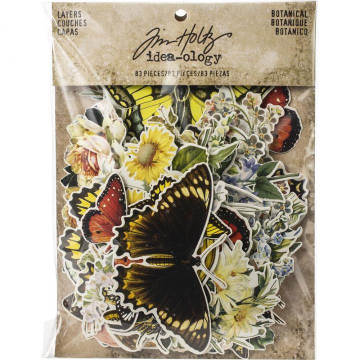 Висічки Tim Holtz Icons Botanical 83/Pkg