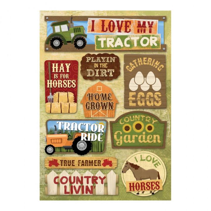 Наліпки Karen Foster I Love My Tractor Cardstock Stickers