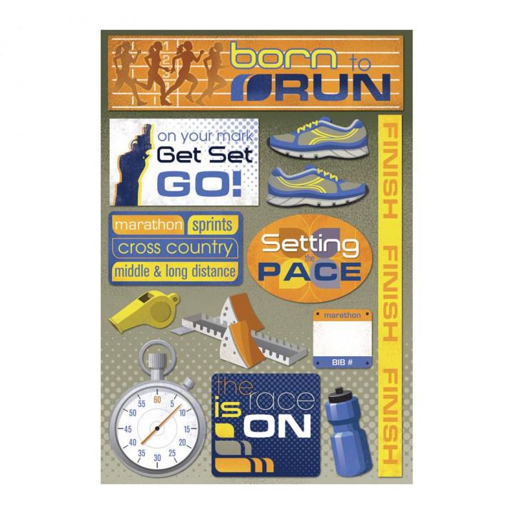 Наліпки Karen Foster Born To Run Cardstock Stickers