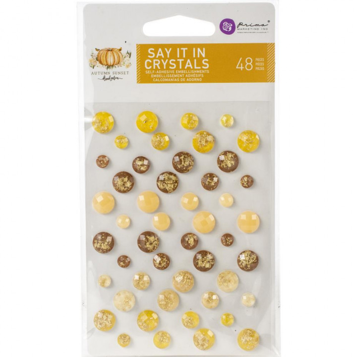 Кристали Prima Dots Autumn Sunset Say It In Crystals 48/Pkg