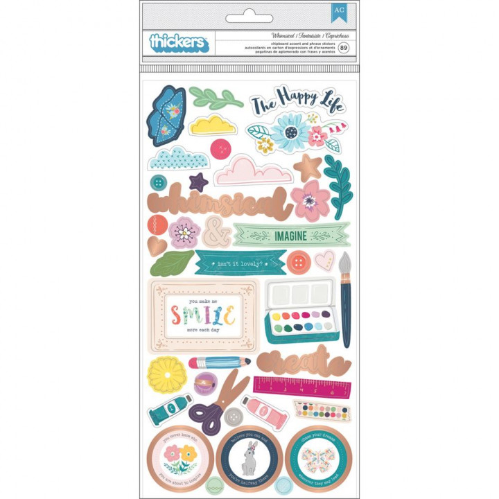 Наліпки Pink Paislee Paige Evans Whimsical Thickers Stickers Elements 14*28см
