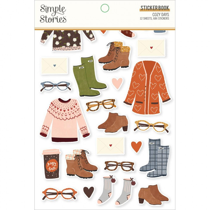 Наліпки Simple Stories Cozy Days Sticker Book 12/Pkg