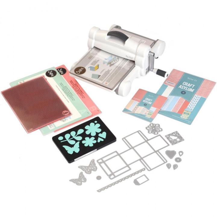 Машинка для тиснення і вирубки Sizzix Big Shot Plus White W/Gray Starter Kit 660341
