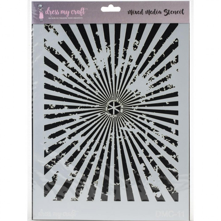 Трафарет Dress My Craft Stencil A4 Sun Rays