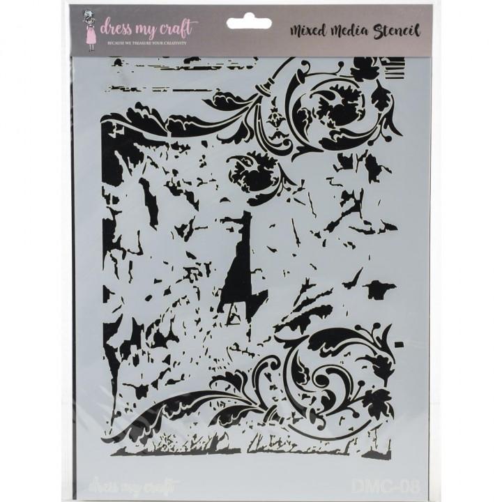 Трафарет Dress My Craft Stencil A4 Swirls