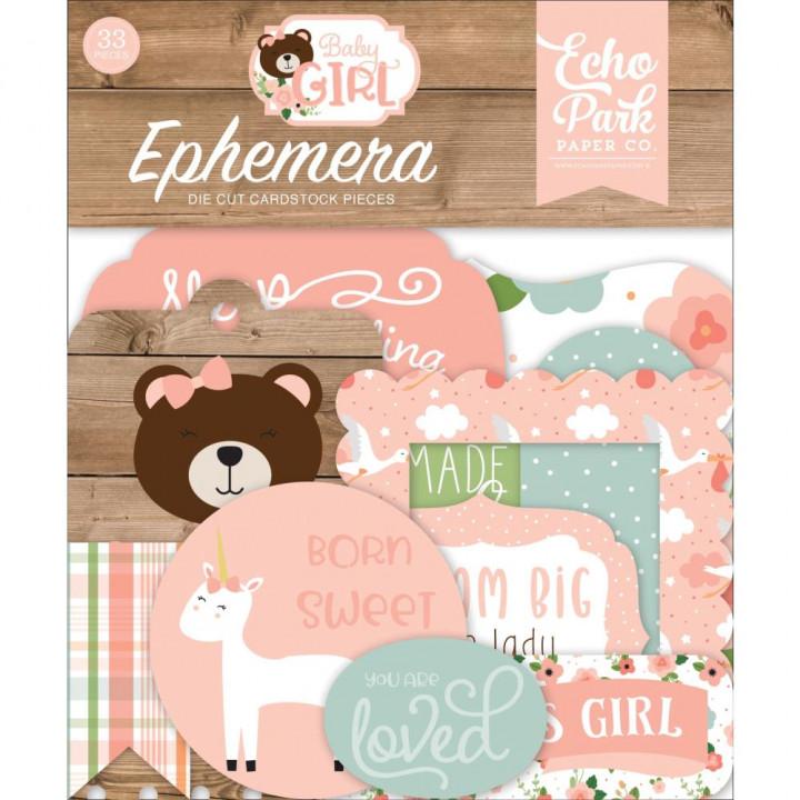 Висічки Echo Park Icons Baby Girl 33/Pkg