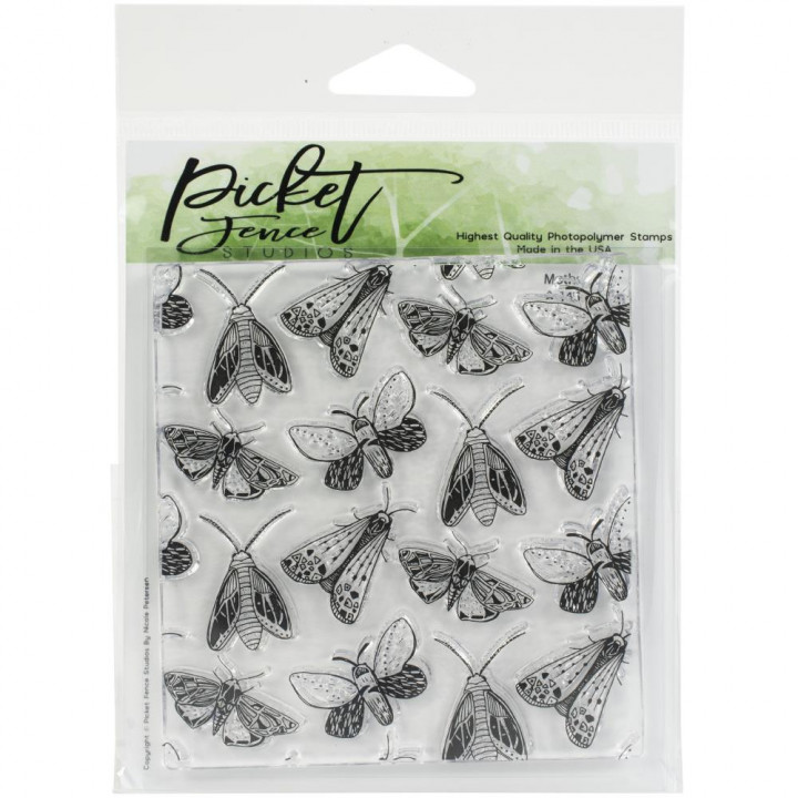 Штамп Picket Fence Studios Stamp Set Moths