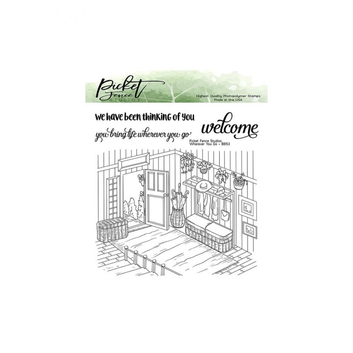 Штамп Picket Fence Studios Stamp Set Wherever You Go