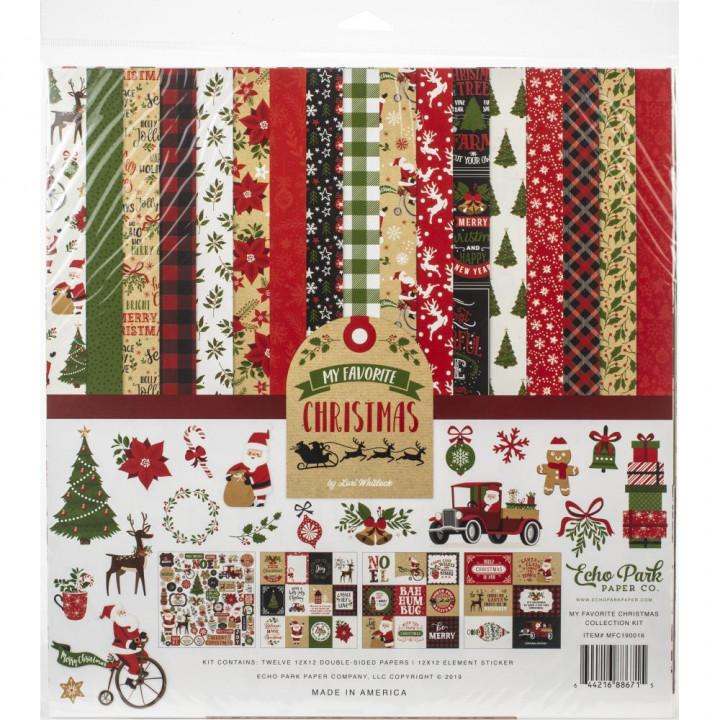 Набір паперу 30*30 см Echo Park My Favorite Christmas