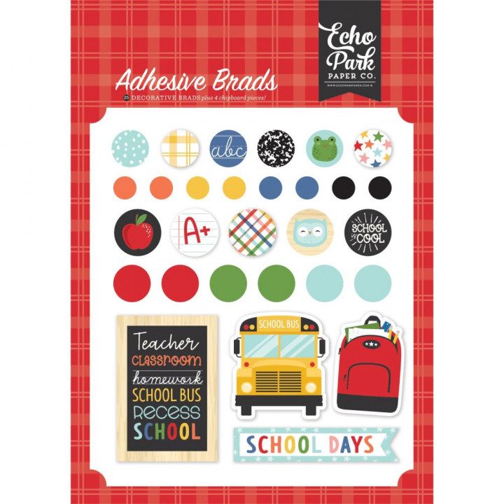 Брадси Echo Park I Love School, 25/Pkg + 6Chipboard