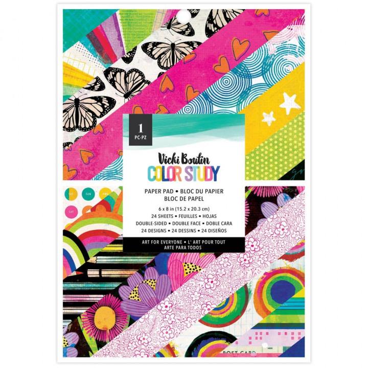 Набір паперу 15*20см American Crafts Vicki Boutin Color Study 24/Pkg