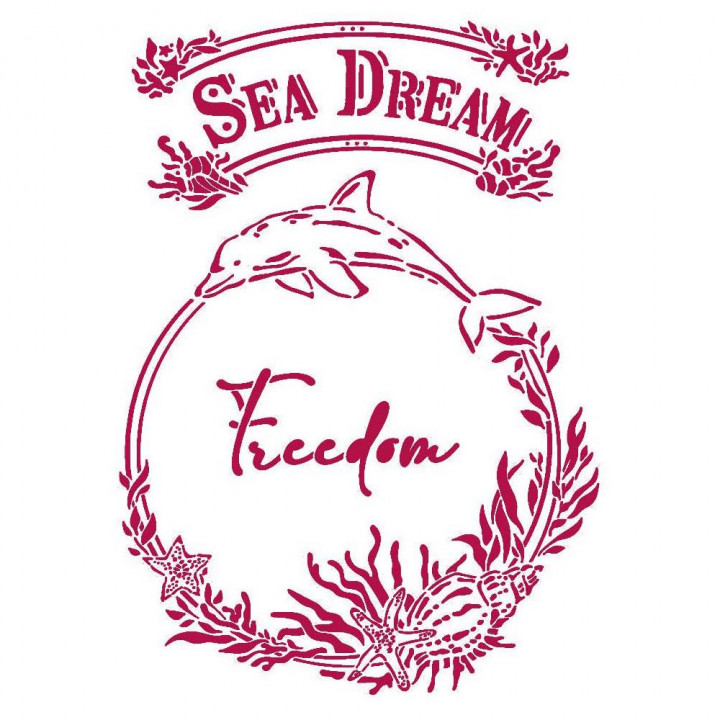 Трафарет Stamperia Sea Dream Freedom, Romantic
