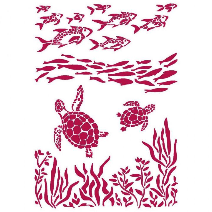 Трафарет Stamperia Sea Dream Fish & Turtles, Romantic