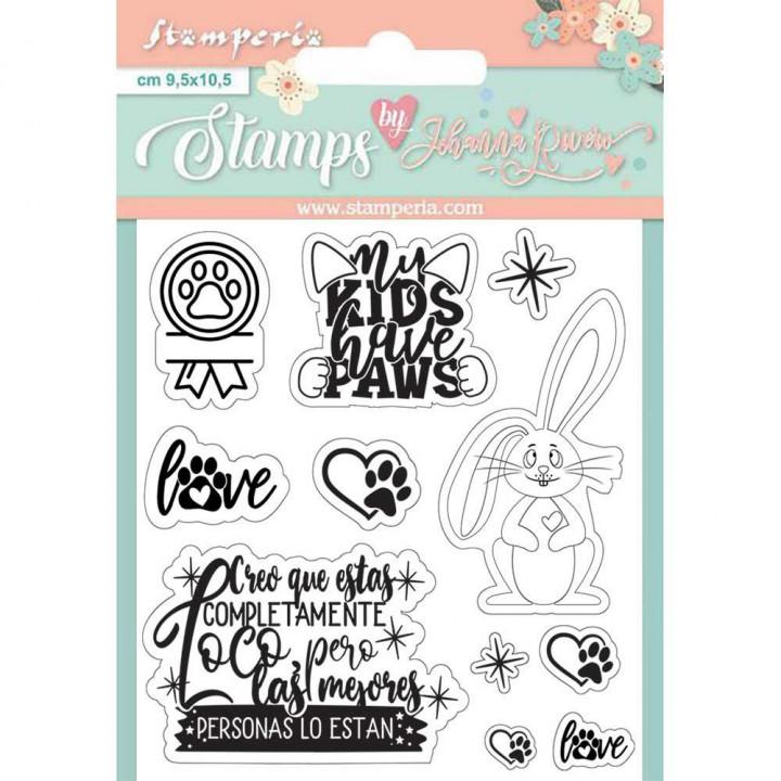Штампи Stamperia Rabbit, Circle Of Love 9,5*10,5см