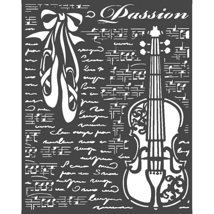 Трафарет Stamperia Violin, Passion