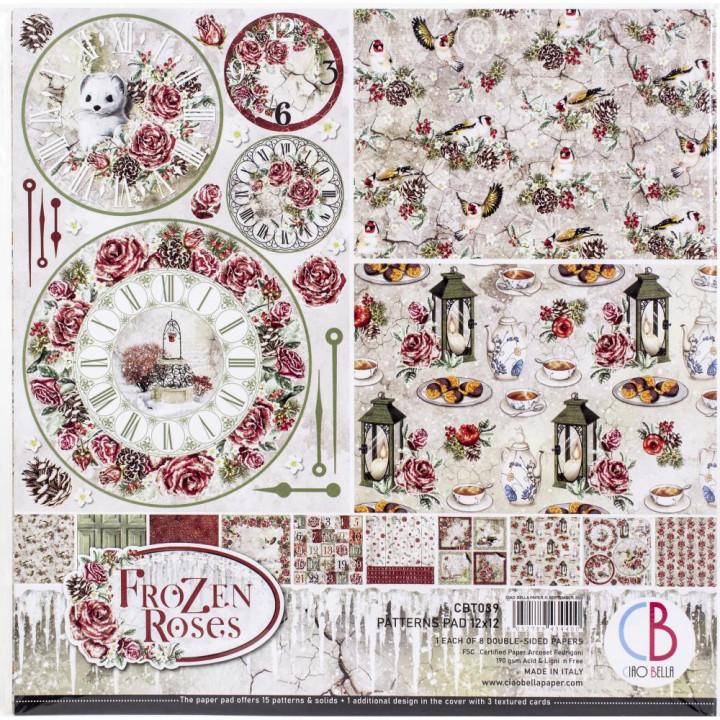 Набір паперу 30*30см Ciao Bella Paper Pack 90lb Frozen Roses 8/Pkg