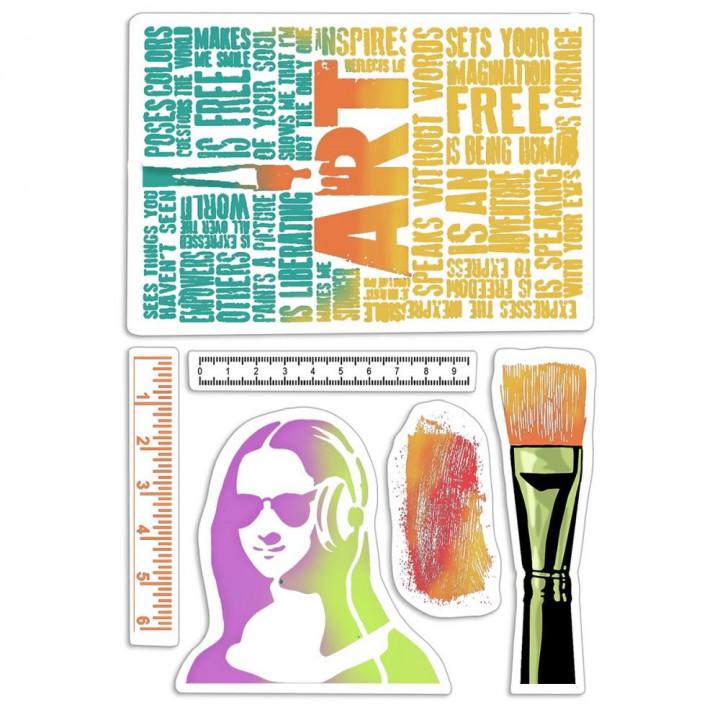 Штамп Ciao Bella Bad Girls Art Rulers