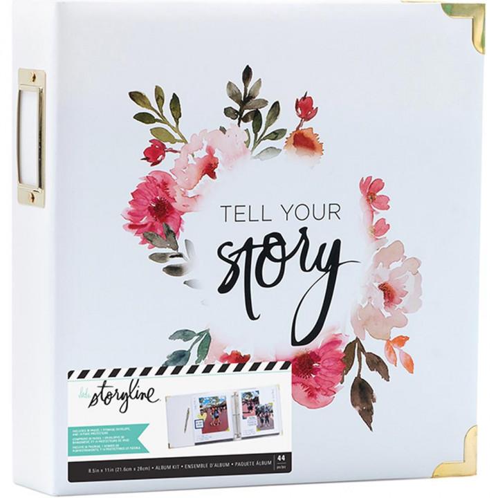 Альбом Heidi Swapp Storyline2 D-Ring White Floral 22*28см