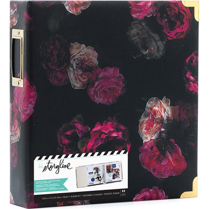 Альбом Heidi Swapp Storyline2 D-Ring Dark Floral 22*28см