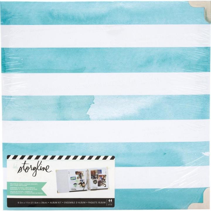 Альбом Heidi Swapp Storyline2 D-Ring Watercolor Stripe 22*28см