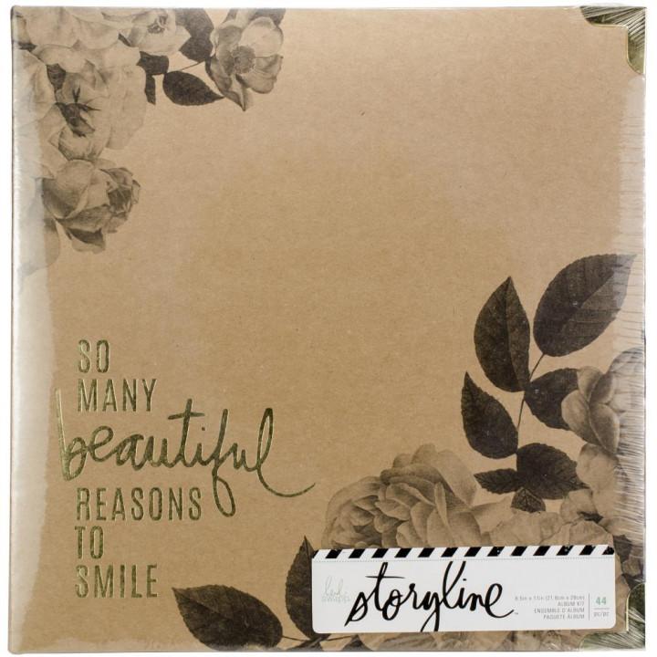 Альбом Heidi Swapp Storyline2 D-Ring Floral 22*28см