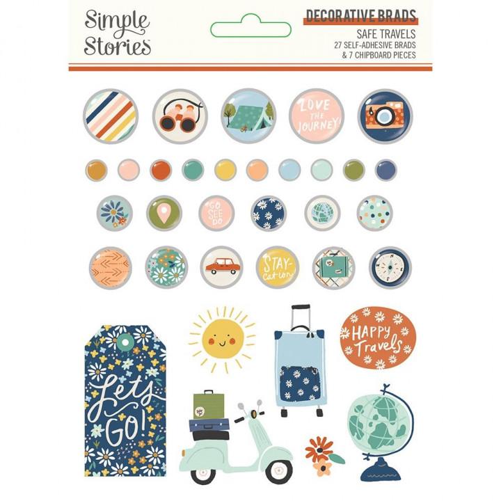 Брадси Simple Stories Simple Safe Travels 34/Pkg