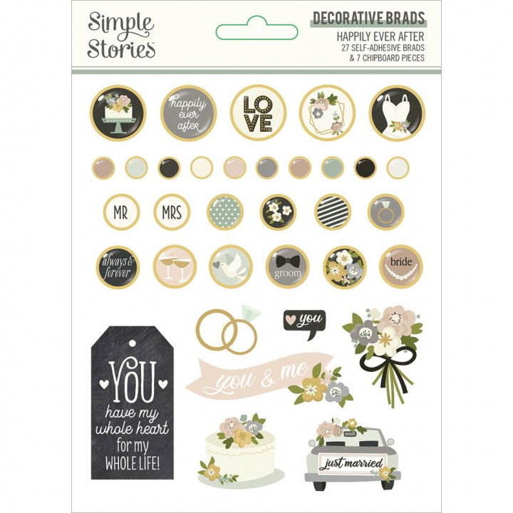 Брадси Simple Stories Happily Ever After 34/Pkg