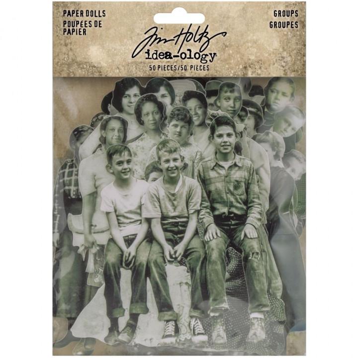 Висічки Tim Holtz Paper Dolls Groups 50/Pkg