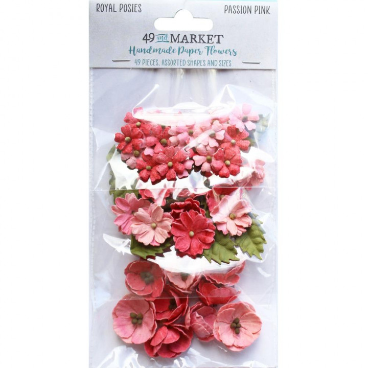 Квіти 49 And Market Royal Posies Paper Flowers Passion Pink 49/Pkg