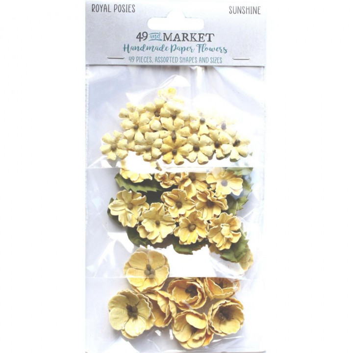 Квіти 49 And Market Royal Posies Paper Flowers Sunshine 49/Pkg