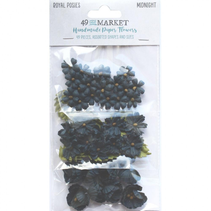 Квіти 49 And Market Royal Posies Paper Flowers Midnight 49/Pkg