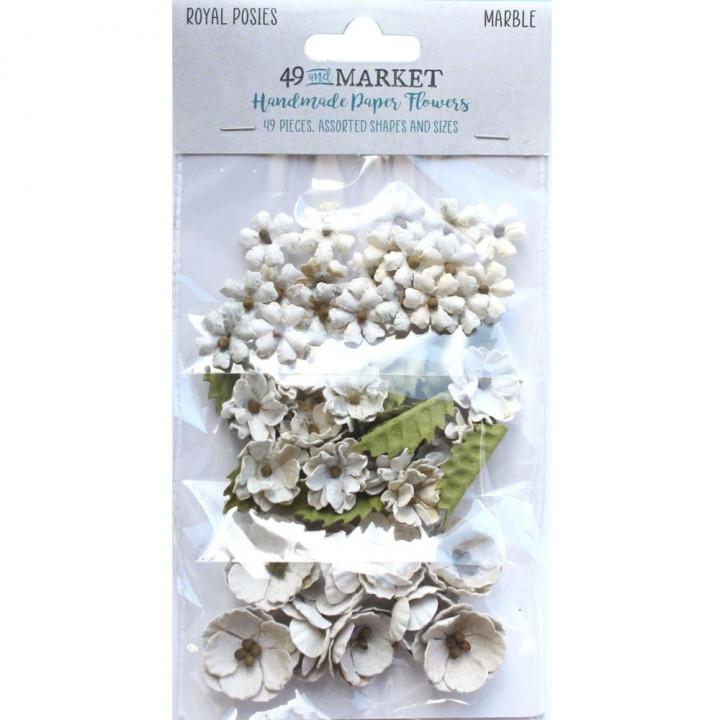 Квіти 49 And Market Royal Posies Paper Flowers Marble 49/Pkg