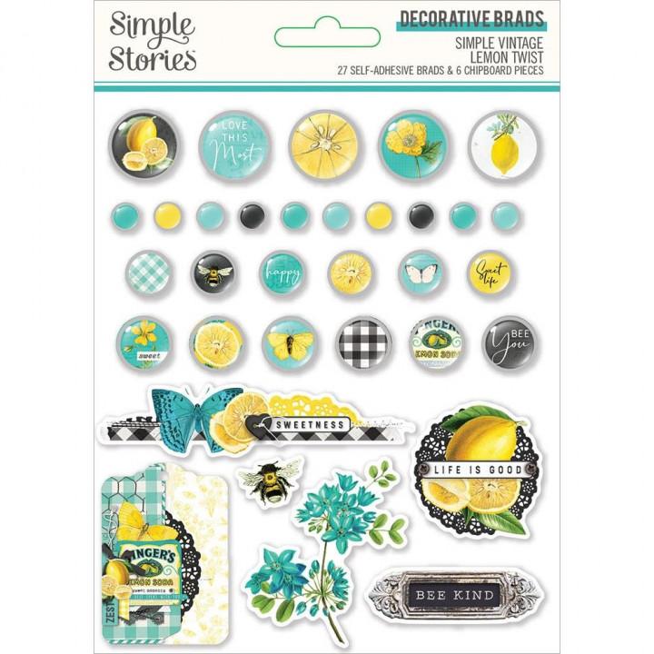 Брадси Simple Stories Simple Vintage Lemon Twist 33/Pkg