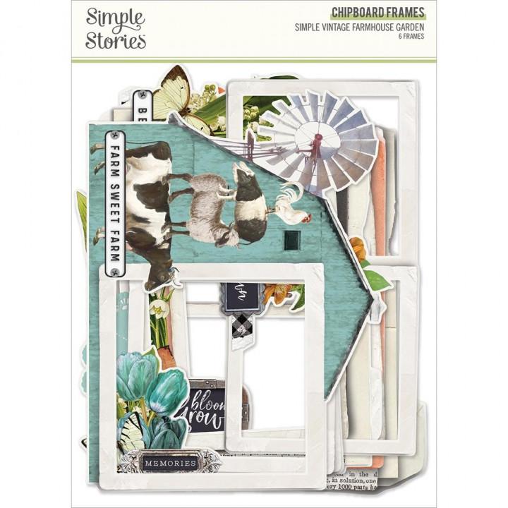 Висічки Simple Stories Simple Vintage Farmhouse Garden Chipboard Frames Die-Cuts 6/Pkg
