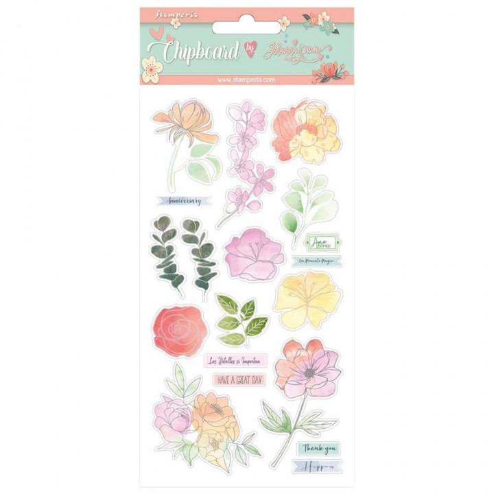 Чіпборд Stamperia Flowers, Celebration 15*30см