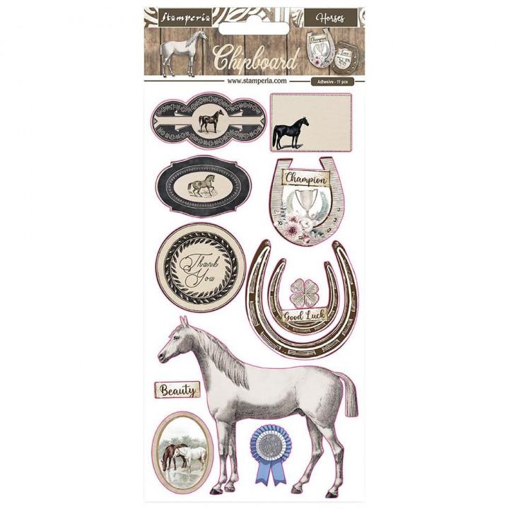 Чіпборд Stamperia Romantic Horses 15*30см