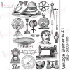 Трансфер Dress My Craft Transfer Me Sheet A4 Vintage Elements #1