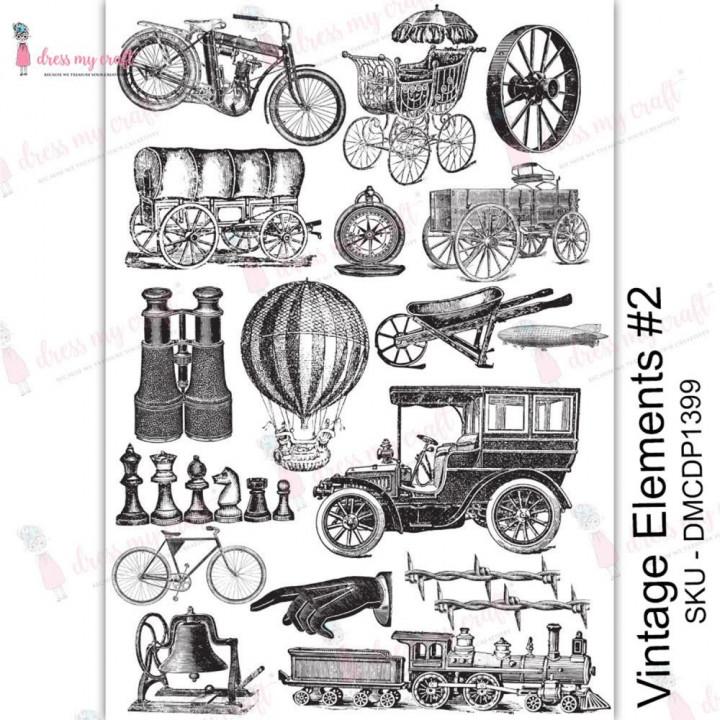 Трансфер Dress My Craft Transfer Me Sheet A4 Vintage Elements #2