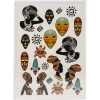 Трансфер Dress My Craft Transfer Me Sheet A4 Tribal Faces
