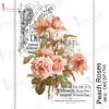 Трансфер Dress My Craft Transfer Me Sheet A4 Peach Roses