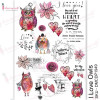Трансфер Dress My Craft Transfer Me Sheet A4 I Love Owls