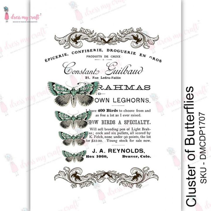 Трансфер Dress My Craft Transfer Me Sheet A4 Cluster of Butterflies