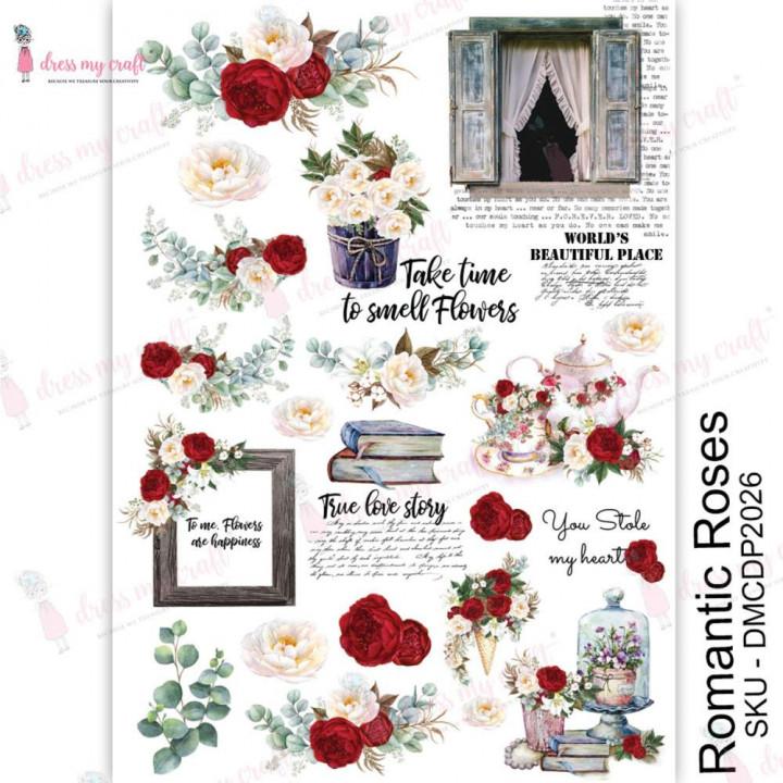 Трансфер Dress My Craft Transfer Me Sheet A4 Romantic Roses