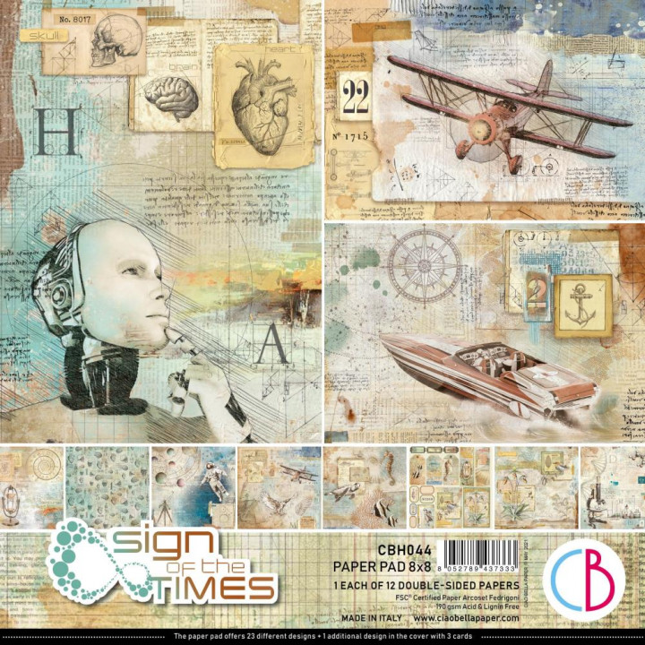 Набір паперу 20*20см Ciao Bella Paper Pack Sign Of The Times 12/Pkg