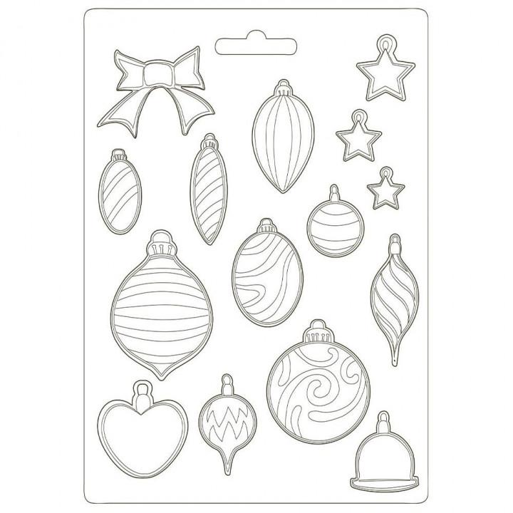 Молд Stamperia Soft Maxi Mould Balls, Romantic Christmas 21*29см