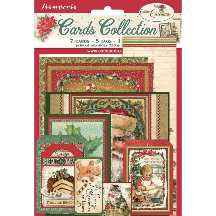 Карти Stamperia Cards Collection Classic Christmas